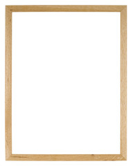 Empty picture frame of light oak wood