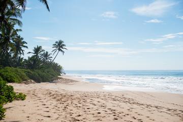Солнечный день на пляже и море