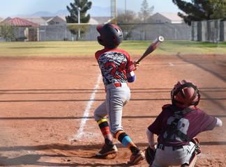 baseball player swing batter pop up