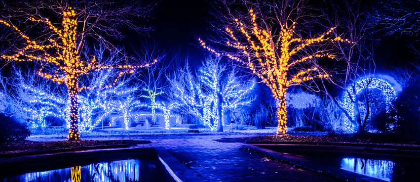 christmas season lights and decorations at daniel stowe gardens belmont ncac