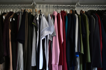 womens clothes on wood hangers