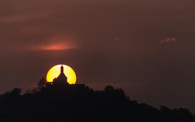 Wurmlinger Kapelle im Sonnenaufgang