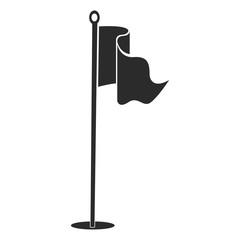 Golf flag silhouette
