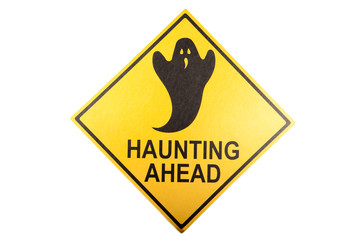 A haunting sign for the Halloween holiday