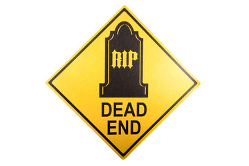 A dead end sign for the Halloween holiday