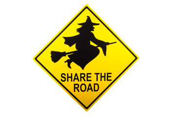 A share the road sign for Halloween