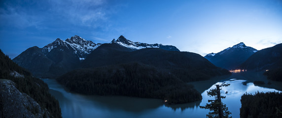 Diablo Lake and the mountains of North Cascades National Park.