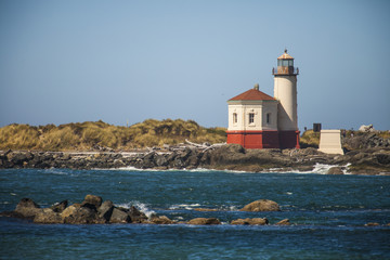 Lighthouse at Bullards Beach State Park, Oregon, USA