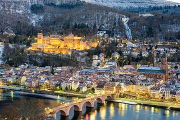 Heidelberg Altstadt (Old Town) and Neckar River, Baden-Wurttemberg, Germany