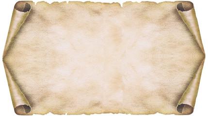Vier fach gerolltes Papier, Papyrusrolle