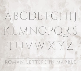 3647 all roman letters