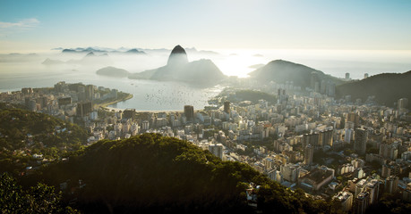 Wall Mural - Sugarloaf mountain and skyline of Rio de Janeiro, Brazil