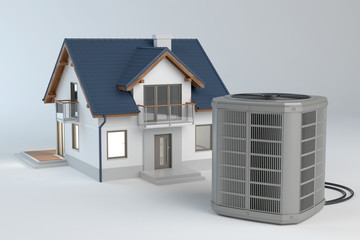 Air heat pump and house model