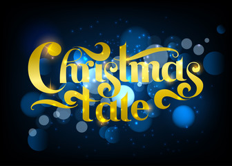 Christmas and New year poster. Vector illustration.