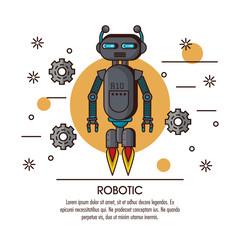 Robotic infographic cartoon icon vector illustration graphic design