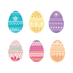 eggs paint happy easter season vector illustration design