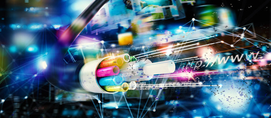 Fast internet connection with the optical fiber