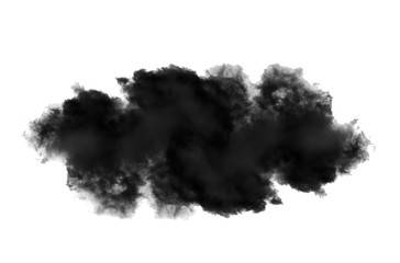 black cloud on white background Wall mural