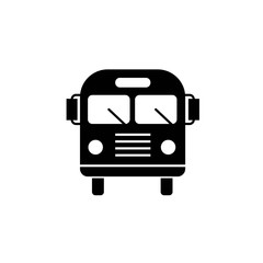 Bus vector icon for public transport school bus black and gray illustration