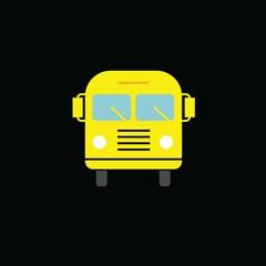 School Bus vector icon blue background