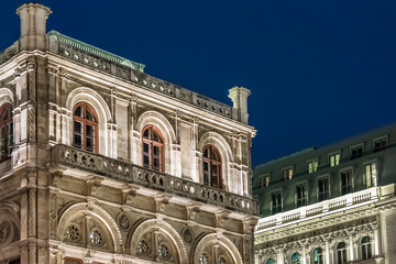 Vienna opera in the night