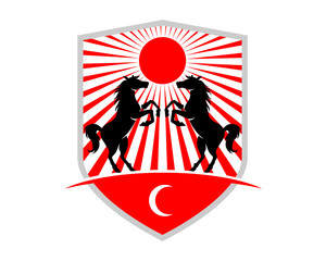 japanes horses shield stallion mustang mare ranch image