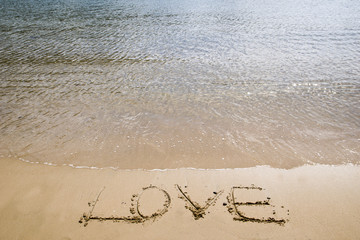 A Message of Love on the Beach