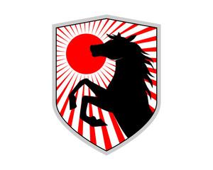 japanese horses shield stallion mustang mare ranch image