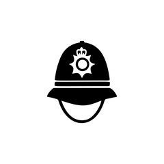 police cap in England icon. Element of United Kingdom culture icons. Premium quality graphic design icon. Signs, outline symbols collection icon for websites, web design, mobile app