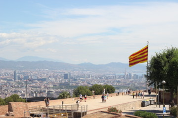 Castel de Montjuic view over Barcelona