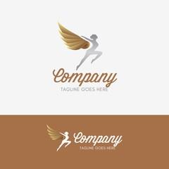 Dance Studio Logo template element symbol with luxury gradient color