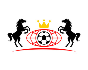 soccer horses emblem stallion mustang mare silhouette image
