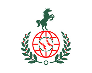 baseball horses emblem stallion mustang mare silhouette image