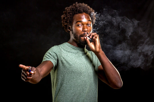 african male smoking