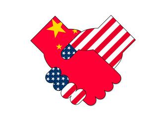 アメリカと中国の会談イメージ