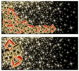 Poker casino banners, vector illustration