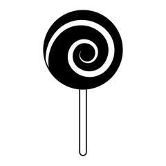 sweet candy cane swirl round vector illustration pictogram design