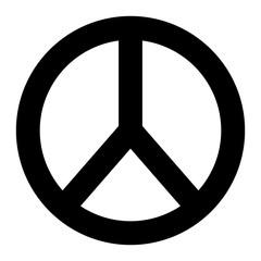 peace and love round symbol design vector illustration pictogram design