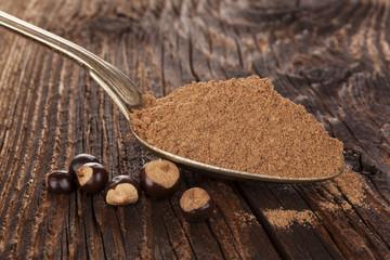 Guarana Powder in spoon