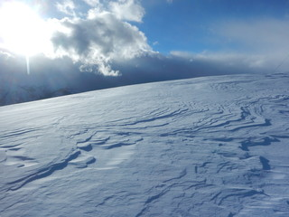 beautiful winter landscape in the alps