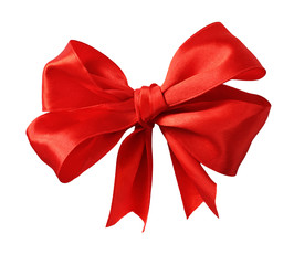 Big red silk ribbon