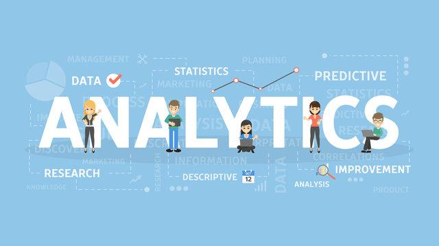 Analytics concept illustration.