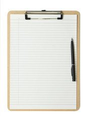 Cliqboard with a ball pen
