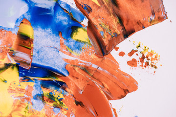 close-up view of decorative abstract colorful painting