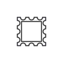 Post stamp frame line icon, outline vector sign, linear style pictogram isolated on white. Symbol, logo illustration. Editable stroke