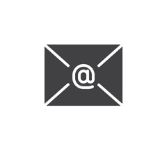 Email message envelope icon vector, filled flat sign, solid pictogram isolated on white. Letter symbol, logo illustration.