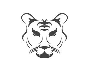Tiger head logo design template