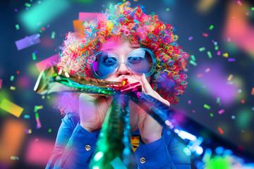 Foto op Aluminium Carnaval Frau in Karnevalstimmung