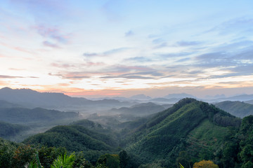 Unseen view of Beautiful Sunrise at Phang-Nga, Thailand