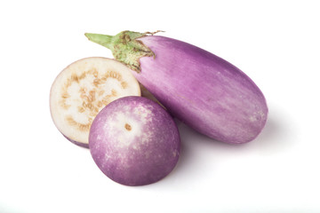 Purple and white Eggplant